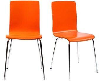 Chaises design cuisine orange (lot de 2) NELLY