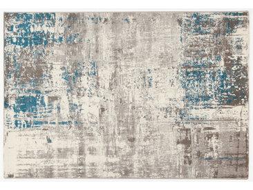 Tapis écru et bleu 160 x 230 cm CAPS