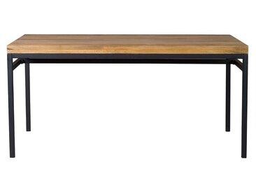 Table à manger industrielle manguier brut et métal L160 cm YPSTER