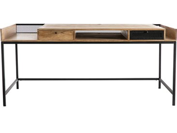 Bureau design en manguier massif et métal noir L180 cm RACK