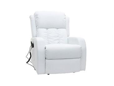 Fauteuil relax électrique massant blanc GALLER