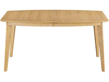 Table à manger extensible scandinave en bois clair L150-200 LEENA