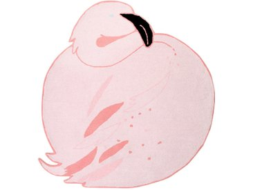 Tapis enfant rose 150x160cm FLAMINGO