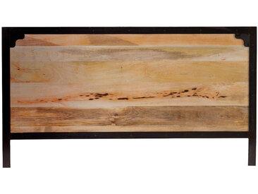 Tête de lit métal et manguier massif L165 cm INDUSTRIA