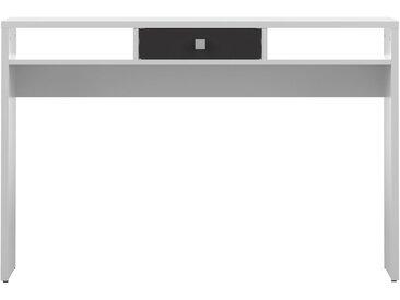 Console d'entrée design blanche et tiroir noir BRUCE