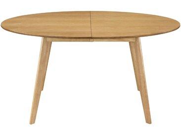 Table à manger extensible design chêne ovale L150-200 cm MARIK