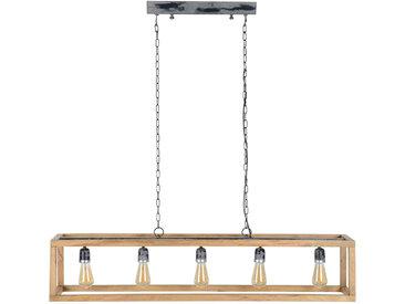 Suspension en manguier 5 ampoules L125 cm BOSCO