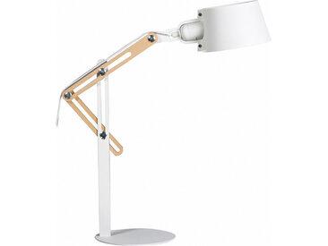 Lampe à poser design métal blanc BILLY