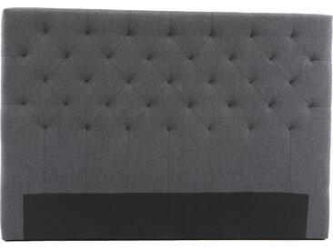 Tête de lit tissu gris foncé 140 cm ENGUERRAND