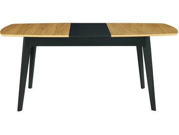 Table à manger extensible bois et noir L140-180 cm MEENA - Miliboo & Stéphane Plaza