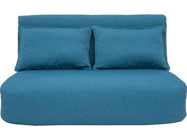 Chauffeuse convertible design bleu canard 2 places SLEEPER
