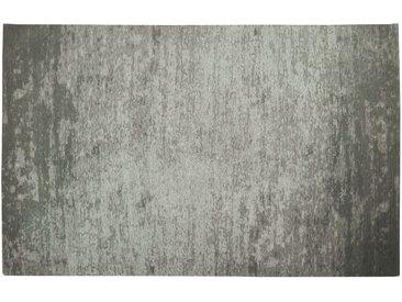 Tapis gris acrylique - coton 155x230 STONE