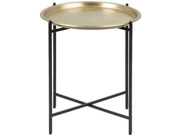 Table d'appoint design ronde métal doré LUZ