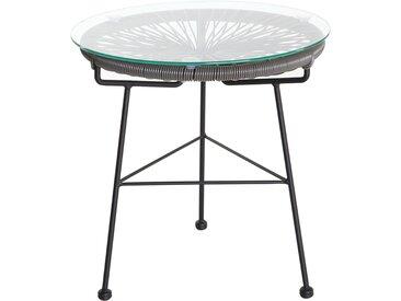 Table d'appoint de jardin en fils de résine gris BELLAVISTA