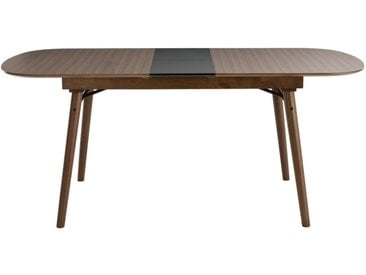 Table à manger extensible noyer L150-180 cm SHELDON