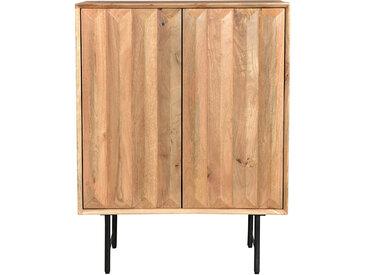 Buffet haut en manguier massif avec portes en relief L70 cm AGRA