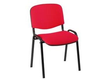 Chaise de conférence standard tissu - rouge - Lot de 4