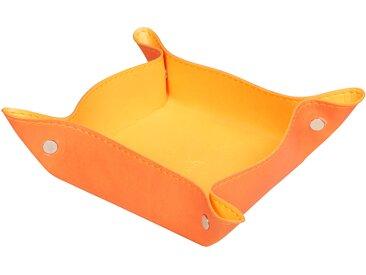 Rhodiarama Vide-poches réversible 12x12x4,5 cm. - Tangerine - Lot de 4