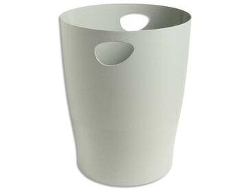 Corbeille à papier 15L en polystyrène, Gris - Diamètre 26 cm, hauteur 33,5cm - Lot de 5