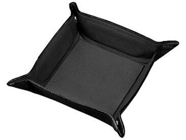 Petit vide-poches, en similicuir, noir - Lot de 3