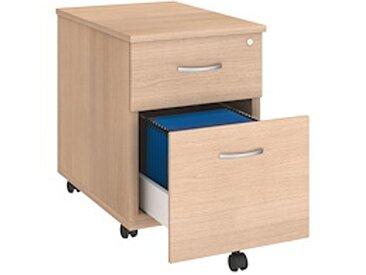 Caisson mobile bois 2 tiroirs chêne clair Team Line