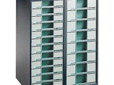 Meubles de classement grande capacité Comptoir Clen 2 colonnes Gris Anthracite