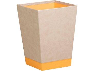 Rhodiarama Corbeille à papier 27x27x32 cm. - Beige - Lot de 2