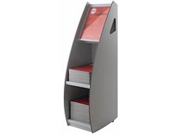 Présentoir distributeur mobile 2 cases pour format 24 x 32