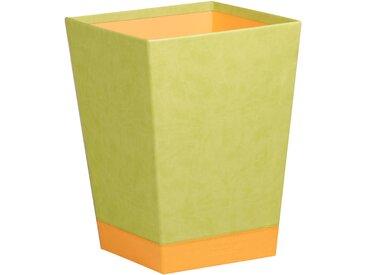 Rhodiarama Corbeille à papier 27x27x32 cm. - Anis - Lot de 2