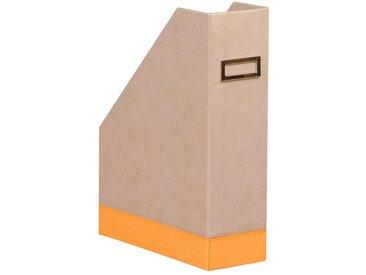 Rhodiarama Porte-revues 10x25x31 cm. - Beige - Lot de 2
