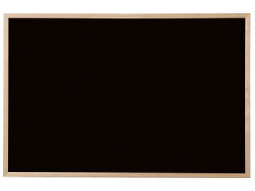 Tableau noir, bois naturel, 600 x 450 mm, noir - Lot de 4