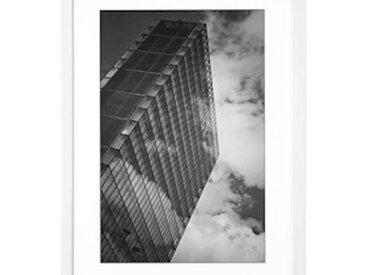Cadre aluminium pour exposition - 40 x 50 cm blanc