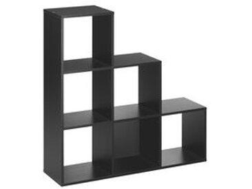 Multicases 6 cases escalier noir