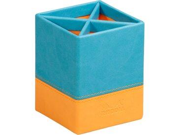 Rhodiarama Pot à crayons 8x8x11 cm. - Turquoise - Lot de 4