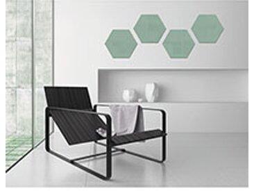 Tableau en verre hexagonal 40 x 46 cm - vert