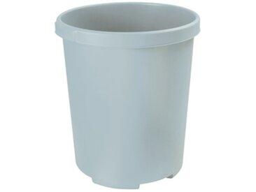 Corbeille à papier MOBIL XXL, 50 litres, PP, rond, gris - Lot de 2