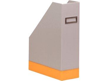 Rhodiarama Porte-revues 10x25x31 cm. - Argent - Lot de 2
