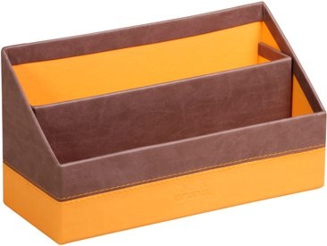 Rhodiarama Porte-courrier 25x10x14 cm. - Chocolat - Lot de 4