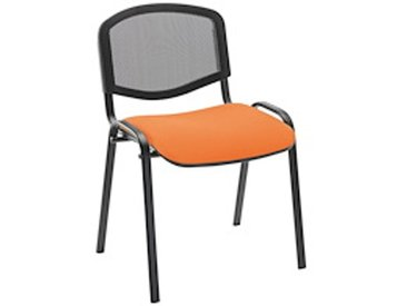 Chaise Conférence dossier maille assise orange