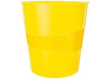 Corbeille à papier plastique Leitz Wow jaune 15 L