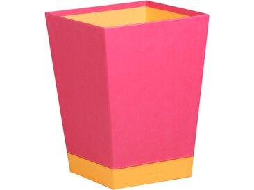 Rhodiarama Corbeille à papier 27x27x32 cm. - Framboise - Lot de 2
