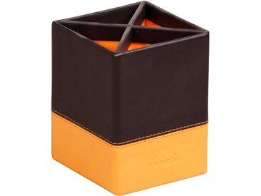 Rhodiarama Pot à crayons 8x8x11 cm. - Noir - Lot de 4