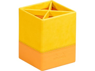 Rhodiarama Pot à crayons 8x8x11 cm. - Jonquille - Lot de 4