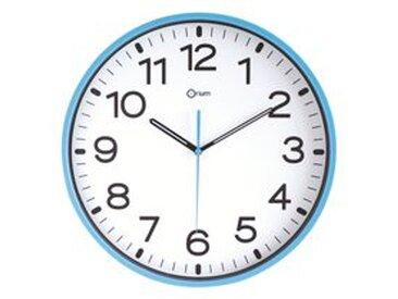 Horloge silencieuse à quartz D 30 cm azur