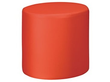 Pouf Modul Color vinyle rond rouge