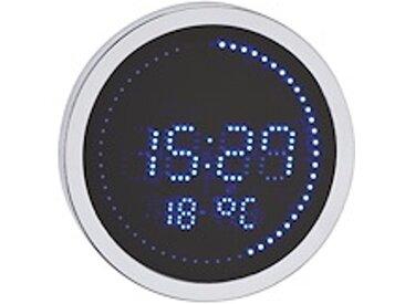 Horloge LED ronde aluminium - À quartz