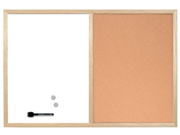 Tableau mixte, cadre en bois, (L)600 x (H)400 mm - Lot de 4