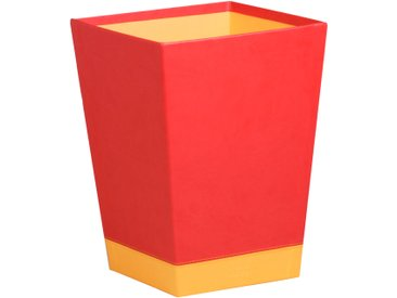 Rhodiarama Corbeille à papier 27x27x32 cm. - Coquelicot