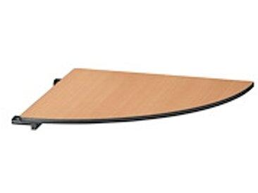Plateau de liaison 1/4 rond pour table pliante classique hêtre finition noir