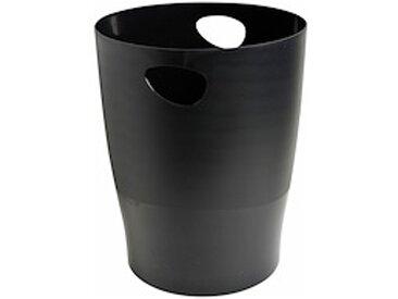 Corbeille à papier Ecobin Exacompta noire